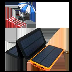 Солнечная батарея Auzer APS8000 - 8000 мАч с 4-мя панелями