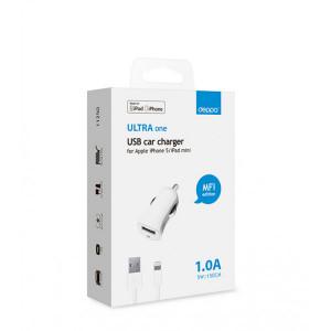 Автомобильное зарядное устройство для Apple (Lightning MFI) - 1A - White - Deppa | Фото 2