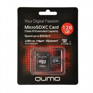 Карта памяти MicroSDXC Class 10 UHS Class 1 128GB - Qumo | Фото 1