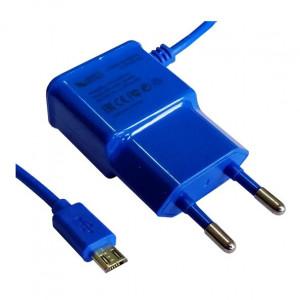 Сетевое зарядное устройство Micro USB - 1A - Blue - LP | Фото 1