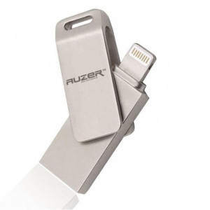 USB флешка 64 Гб для iPhone / iPad с разъемом lightning (8 pin) - Auzer - Silver - Auzer | Фото 1